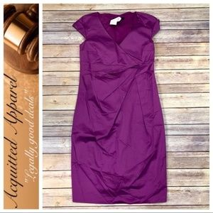 MaxMara Purple Weekend Cap Sleeve Dress Wrap Style